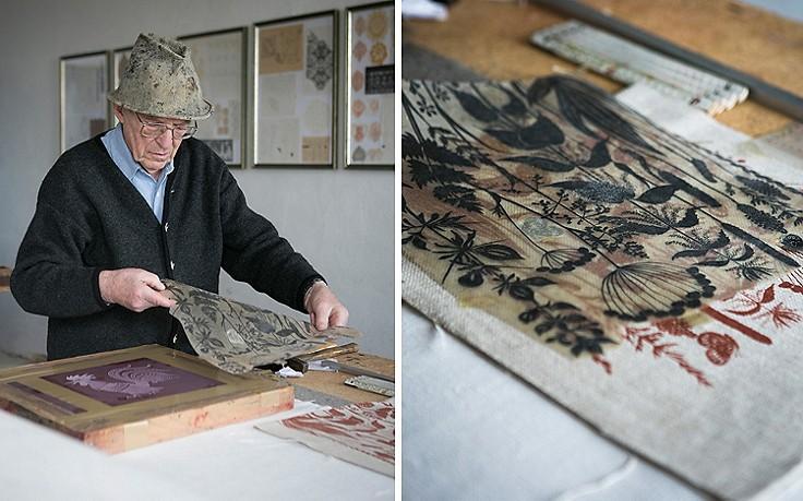 Stoffdruck nach alter Handwerksart