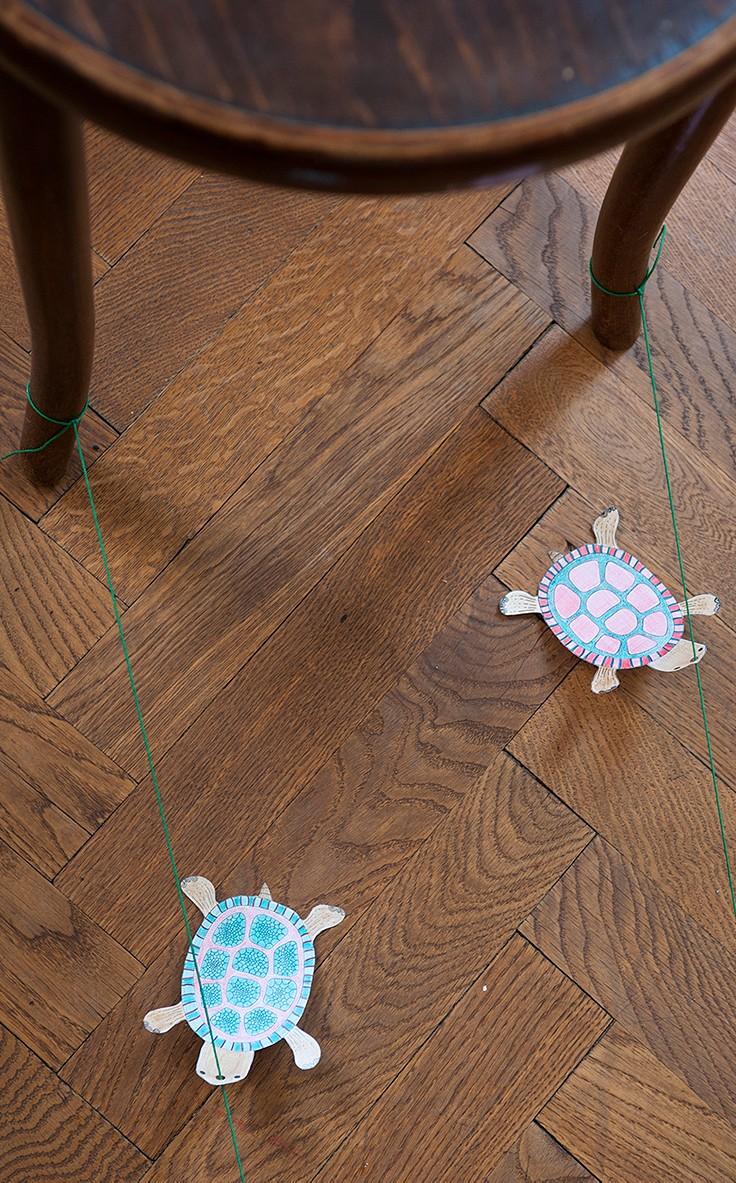 Basteln mit Kindern: Schildkröten-Rennen