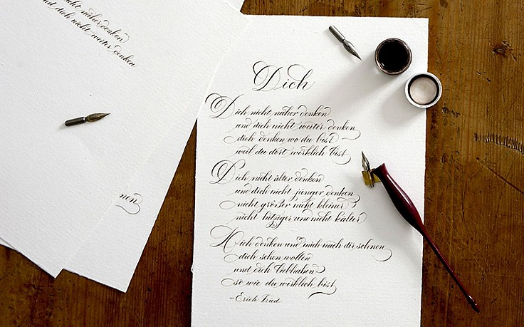 Kalligraphie: Die kleine Schönschreibschule