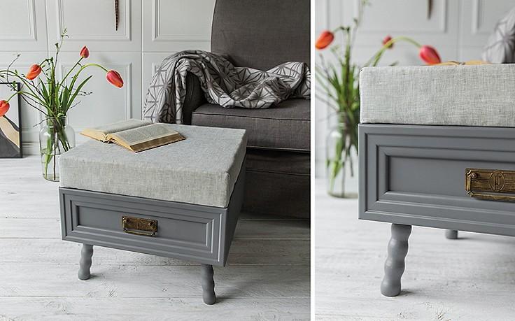 basteln bequemer schubladen hocker. Black Bedroom Furniture Sets. Home Design Ideas