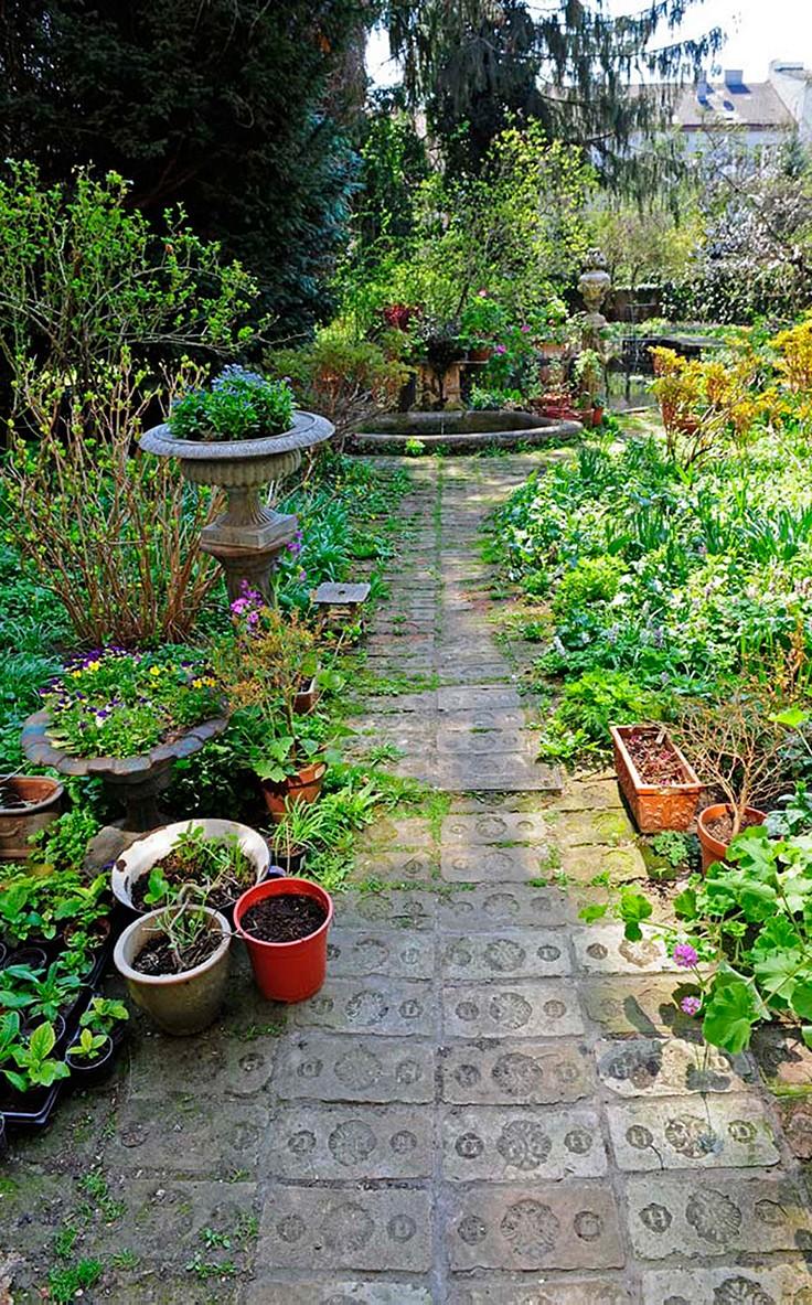 Garten Verschönern Mit Steinen inspiration für den garten: gestaltung mit naturstein und ziegel