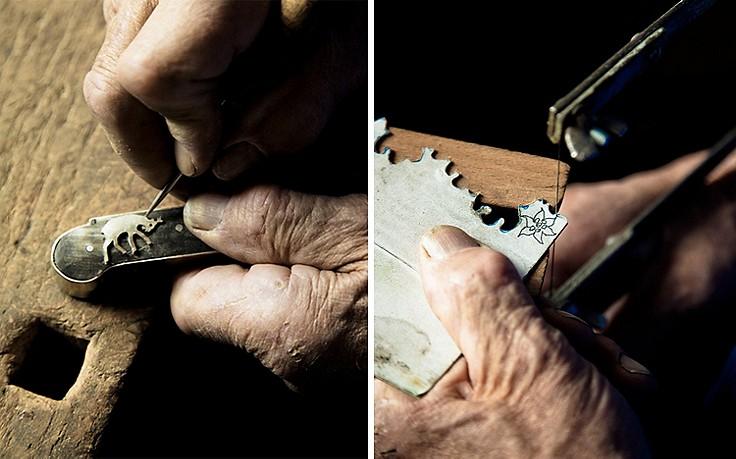 Der Messermacher und sein traditionelles Trachtenbesteck aus Südtirol