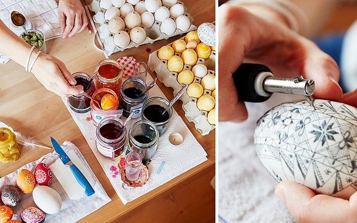 Kunstvolle Ostereier: In Schale geworfen