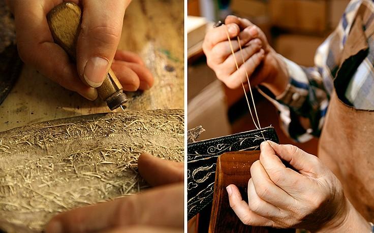 Federkielstickerei aus Meisterhand