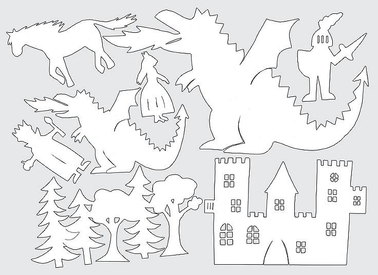 Handgestickte Landschaft in rundem Holzrahmen