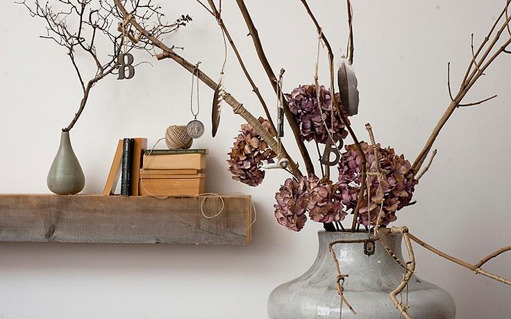 Inspiration für daheim mit samenkapseln nüssen und zweigen dekorieren