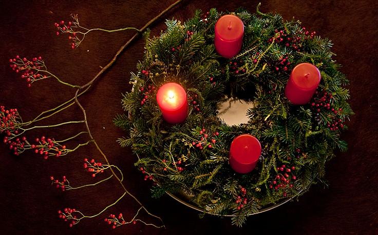 Wie man einen Adventkranz selber bindet