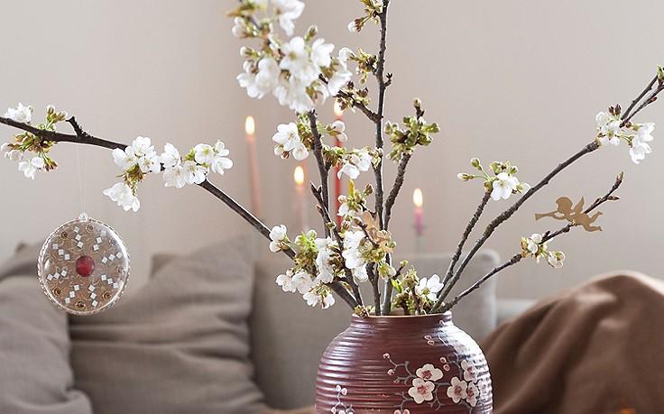 Wie man im Winter Zweige zum Blühen bringt