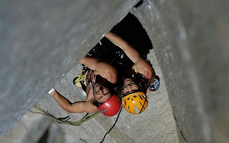 """2007 stellten die Hubers an der rund 1.000 Meter hohen """"Nose"""" im Yosemite-Nationalpark einen Speedkletter-Rekord auf: Sie schafften die Mehrtages-Tour in 2:45 Stunden."""