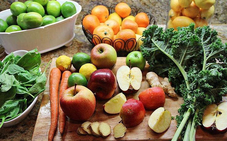 Obst und Gemüse für die Entlastungstage