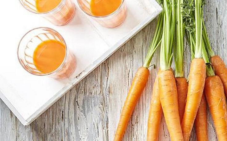 Karotten und Karottensaft