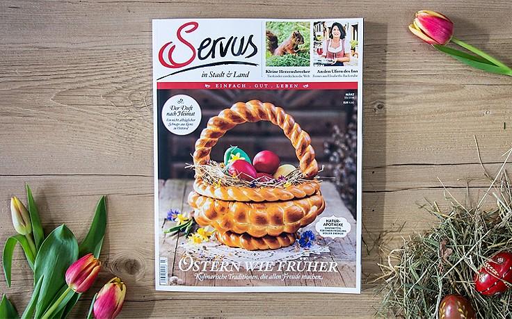 Die März-Ausgabe von Servus in Stadt & Land – jetzt erhältlich!