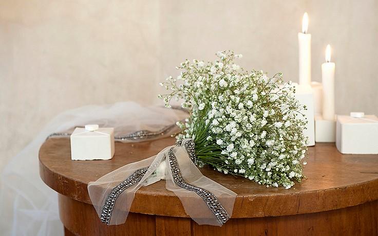 Brautstrauß mit Schleierkraut