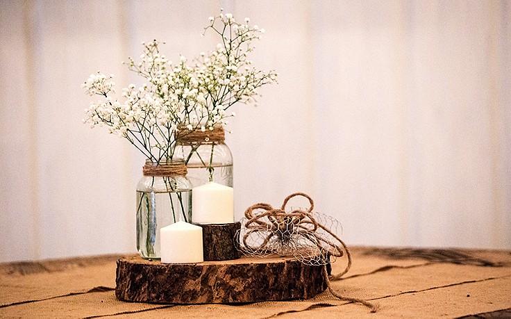 Blumendeko mit Schleierkraut