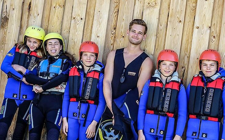 Rafting im Ferienlager