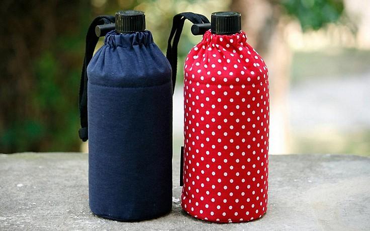 Glastrinkflaschen mit Isolierung