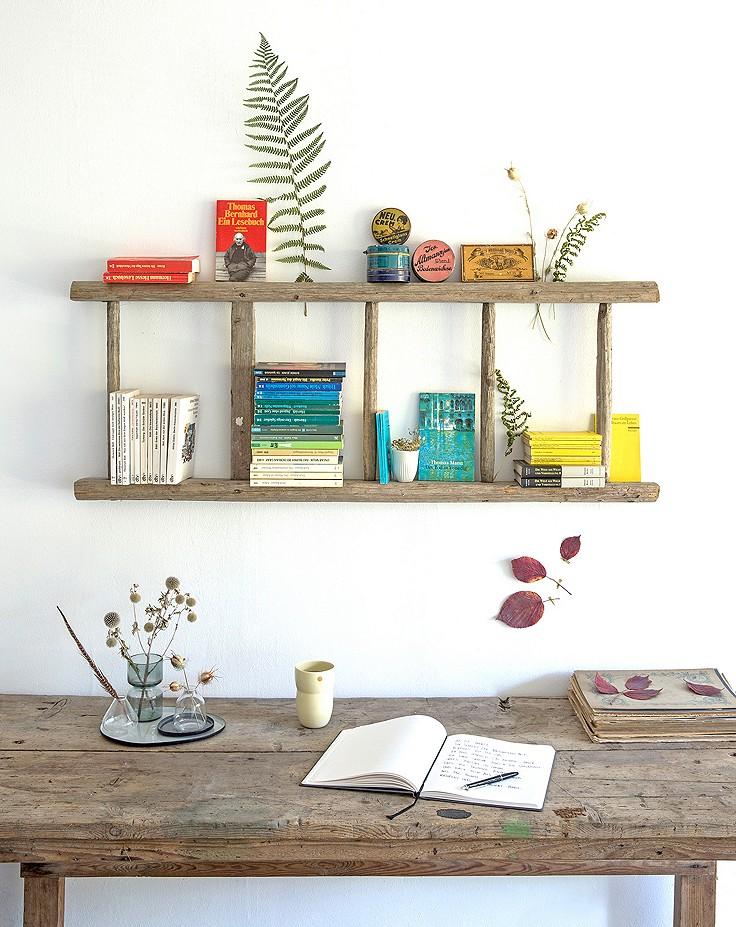 Von der Leiter zum Bücherregal