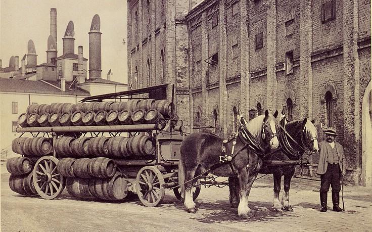 Bierproduktion früher