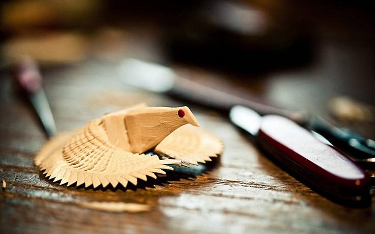 Heiliggeisttaube aus Holz