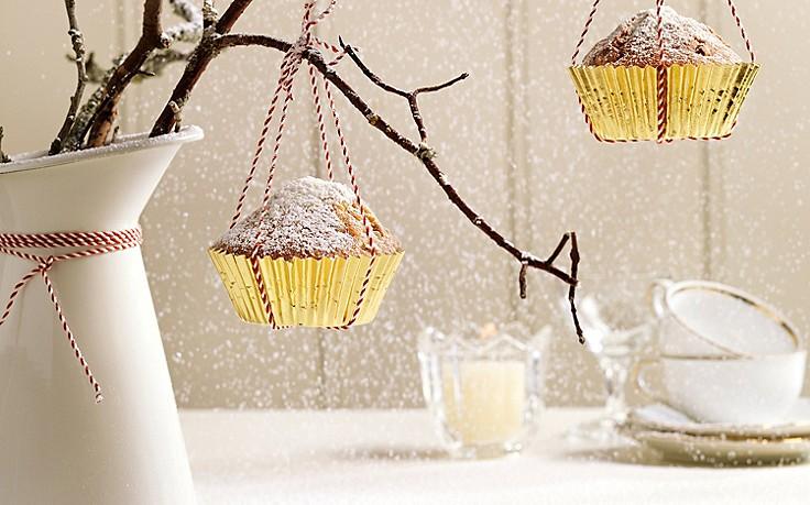 Mini-Weihnachtsstollen als Baumschmuck