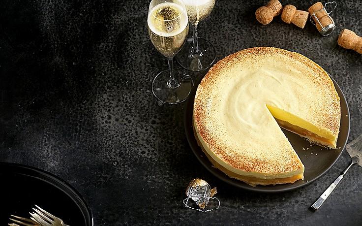 Apfel-Sektcreme-Torte