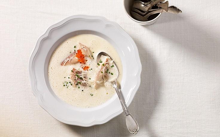 Räucherfisch-Suppe