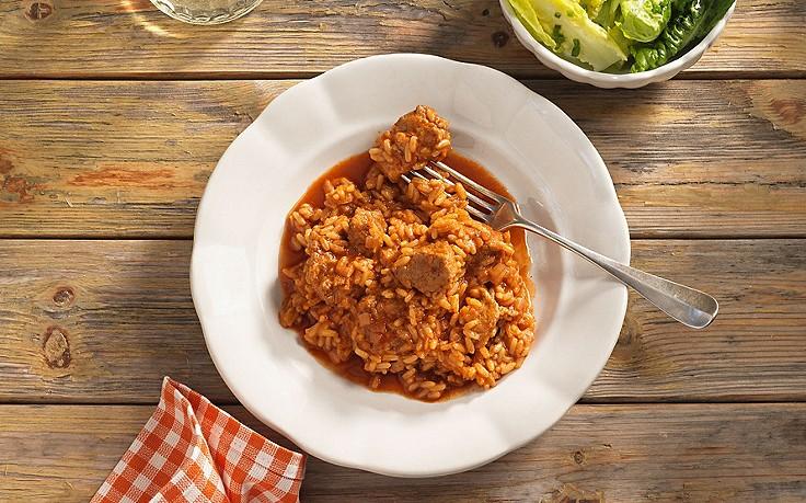 Saftiges Reisfleisch