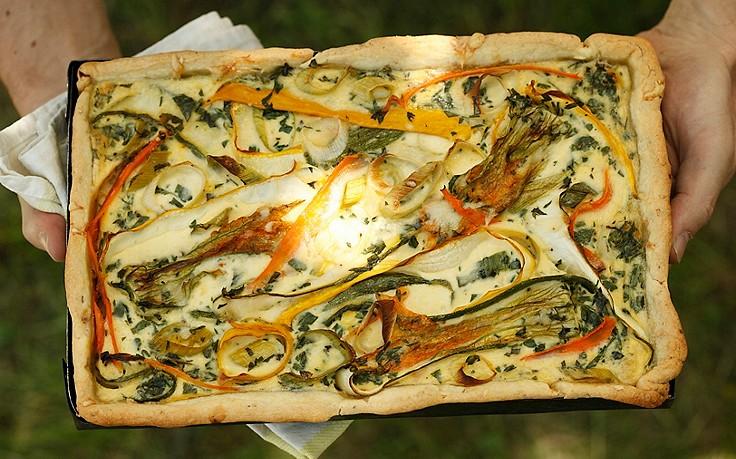 Gemüse-Blechkuchen