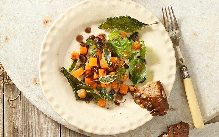 Kürbis-Salat mit Kräutern
