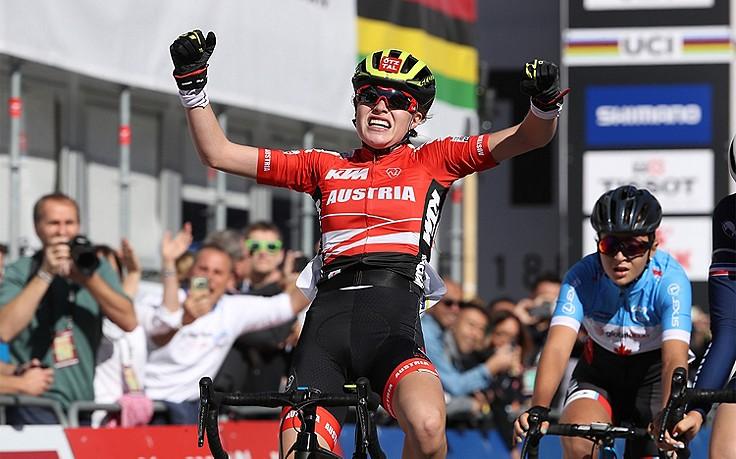 Tirolerin Stigger holt Gold bei Rad-WM in Innsbruck