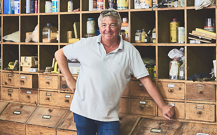Thomas Reiner, Restaurator und Inhaber der Firma Antique Parkquet