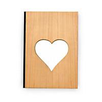 Notizbuch mit Holzeinband