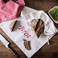 Großer Brotbeutel mit Leinen