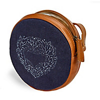 Runde Blaudrucktasche