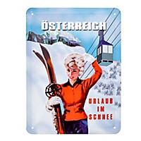 """Schild """"Urlaub im Schnee"""""""