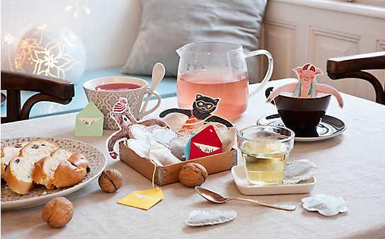Basteln mit Kindern: lustige Teetassen-Figuren und hübsche Teebeutel