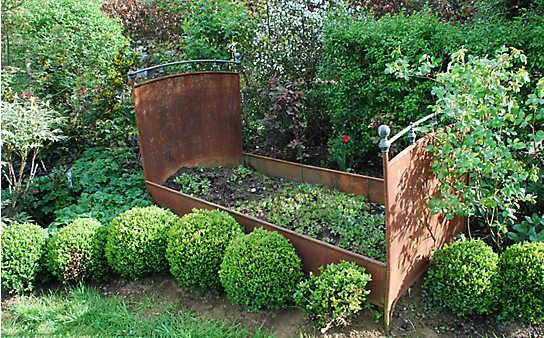 Inspiration für den Garten: So dekorativ kann Rost sein