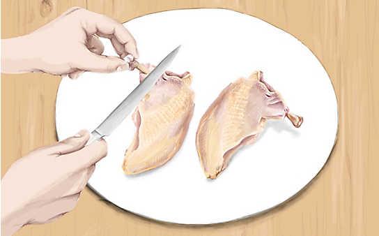 Kleine Fleischkunde: So schneiden Sie Huhn Suprême