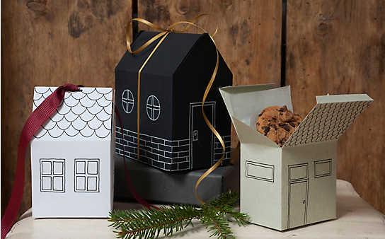 Falthäuschen als Geschenk-Verpackung