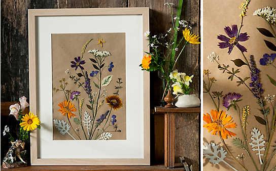 Blumen pressen: 5 Deko-Ideen
