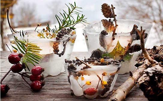 Zauberhafte Deko für den Wintergarten