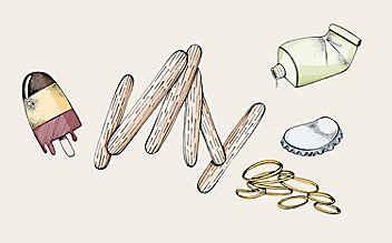 Basteln mit Kindern: Spiele, die aus Eisstaberln gemacht werden