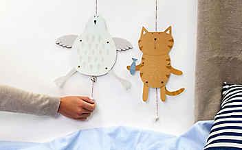 Basteln mit Kindern: Hampel-Huhn & Hampel-Katz