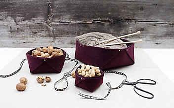 Schmucke Filz-Körbchen zum Selbermachen