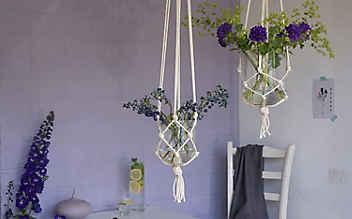 Kleine Kunstwerke aus Schnüren und Seilen