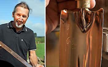 Handgemachtes Kupferwerkzeug für den Garten