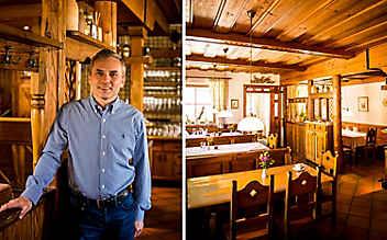 Spezialität im Gasthaus Schwarz: gebackener Karpfen