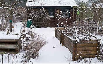 Dezember-Gartentipp Nr. 1: Schnee gleichmäßig verteilen