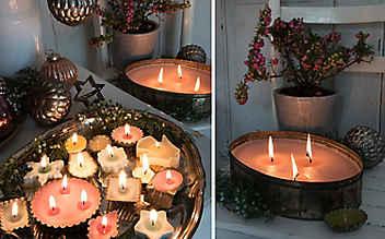 Wie aus Keksausstechern kleine Kerzen werden