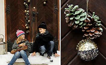 Winterlicher Türschmuck zum Selbermachen